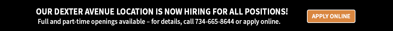 Our Dexter Avenue Location is Now Hiring for all positions